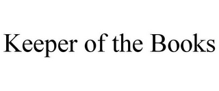 mark for KEEPER OF THE BOOKS, trademark #85674747