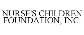 mark for NURSE'S CHILDREN FOUNDATION, INC., trademark #85675428