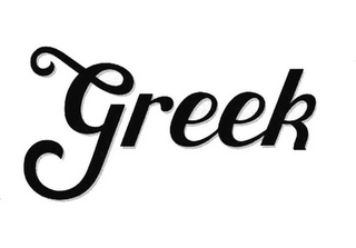 mark for GREEK, trademark #85675438