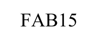 mark for FAB15, trademark #85675687