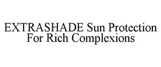 mark for EXTRASHADE SUN PROTECTION FOR RICH COMPLEXIONS, trademark #85675846