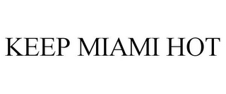 mark for KEEP MIAMI HOT, trademark #85675982