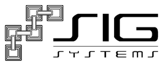 mark for SIG SYSTEMS, trademark #85676120