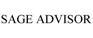 mark for SAGE ADVISOR, trademark #85676457