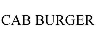 mark for CAB BURGER, trademark #85676803