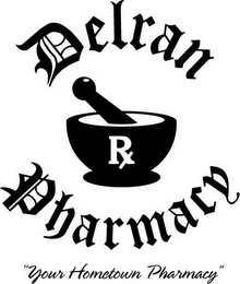 "mark for DELRAN PHARMACY ""YOUR HOMETOWN PHARMACY"", trademark #85677177"