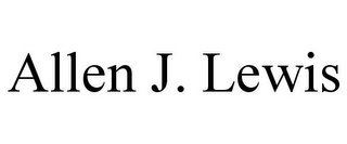 mark for ALLEN J. LEWIS, trademark #85677190