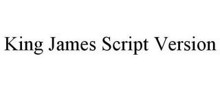 mark for KING JAMES SCRIPT VERSION, trademark #85677282