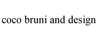 mark for COCO BRUNI AND DESIGN, trademark #85677292
