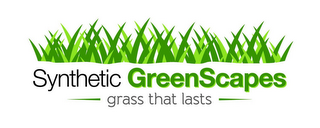 mark for SYNTHETIC GREENSCAPES GRASS THAT LASTS, trademark #85678101