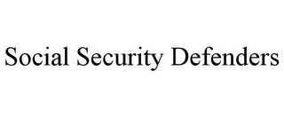 mark for SOCIAL SECURITY DEFENDERS, trademark #85678497