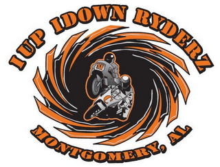 mark for 1UP 1DOWN RYDERZ MONTGOMERY, AL MC, trademark #85679349