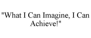 "mark for ""WHAT I CAN IMAGINE, I CAN ACHIEVE!"", trademark #85679960"