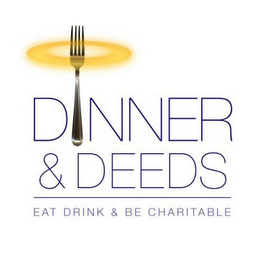 mark for DINNER & DEEDS EAT DRINK & BE CHARITABLE, trademark #85680254
