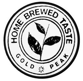 mark for HOME BREWED TASTE GOLD PEAK, trademark #85680480