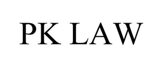 mark for PK LAW, trademark #85680750