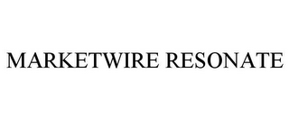 mark for MARKETWIRE RESONATE, trademark #85680797
