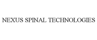 mark for NEXUS SPINAL TECHNOLOGIES, trademark #85680847