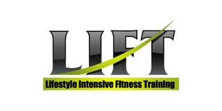 mark for LIFT LIFESTYLE INTENSIVE FITNESS TRAINING, trademark #85681194