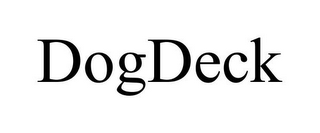 mark for DOGDECK, trademark #85681397