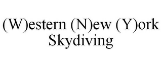 mark for (W)ESTERN (N)EW (Y)ORK SKYDIVING, trademark #85681463