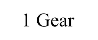 mark for 1 GEAR, trademark #85681809