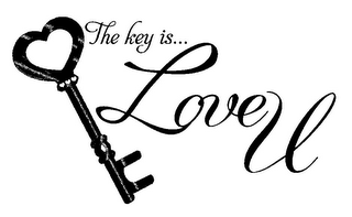 mark for THE KEY IS... LOVE U, trademark #85681925