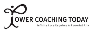 mark for POWER COACHING TODAY INFINITE LOVE REQUIRES A POWERFUL ALLY, trademark #85682151