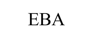 mark for EBA, trademark #85682421