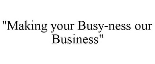 "mark for ""MAKING YOUR BUSY-NESS OUR BUSINESS"", trademark #85682543"