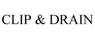 mark for CLIP & DRAIN, trademark #85682872