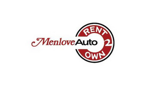 mark for MENLOVE AUTO RENT 2 OWN, trademark #85683587