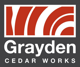 mark for GRAYDEN CEDAR WORKS, trademark #85684471