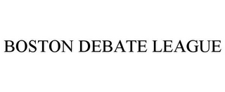 mark for BOSTON DEBATE LEAGUE, trademark #85684511