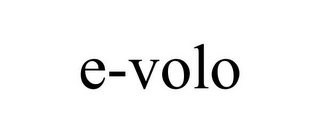mark for E-VOLO, trademark #85685198