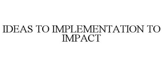 mark for IDEAS TO IMPLEMENTATION TO IMPACT, trademark #85686542