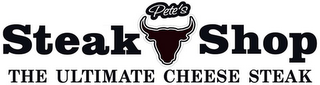 mark for PETE'S STEAK SHOP THE ULTIMATE CHEESE STEAK, trademark #85687648