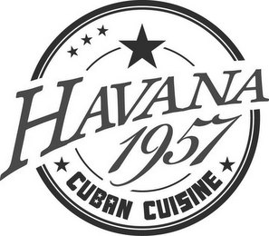 mark for HAVANA 1957 CUBAN CUISINE, trademark #85688617