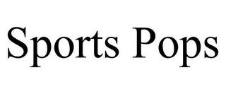 mark for SPORTS POPS, trademark #85690020