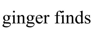 mark for GINGER FINDS, trademark #85690052