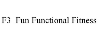mark for F3 FUN FUNCTIONAL FITNESS, trademark #85690299