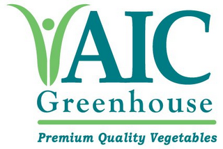 mark for AIC GREENHOUSE PREMIUM QUALITY VEGETABLES, trademark #85690717