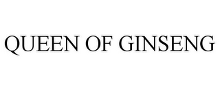 mark for QUEEN OF GINSENG, trademark #85690754