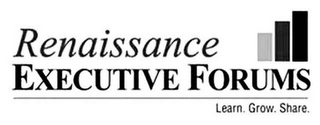 mark for RENAISSANCE EXECUTIVE FORUMS LEARN. GROW. SHARE., trademark #85690806