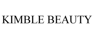mark for KIMBLE BEAUTY, trademark #85691204
