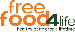 mark for FREE FOOD 4 LIFE HEALTHY EATING FOR A LIFETIME, trademark #85691287