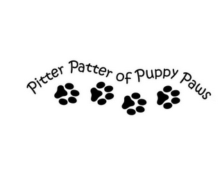 mark for PITTER PATTER OF PUPPY PAWS, trademark #85691361
