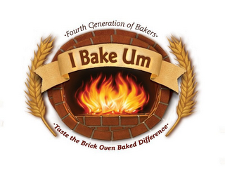 mark for ·FOURTH GENERATION OF BAKERS· I BAKE UM·TASTE THE BRICK OVEN BAKED DIFFERENCE·, trademark #85691380