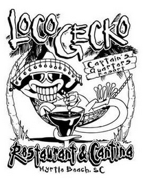 mark for LOCO GECKO CAPTAIN'S QUARTERS RESORT RESTAURANT & CANTINA MYRTLE BEACH, SC, trademark #85691414