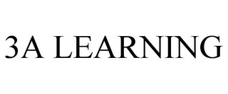 mark for 3A LEARNING, trademark #85692618